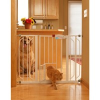 "Carlson Pet Products Extra Wide Walk-Thru Gate - White (30"")"