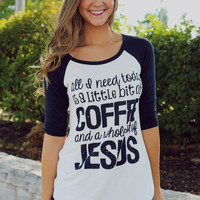 Coffee & Jesus Graphic Tee