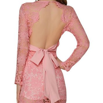 Explosive hot sale fashion ladies sexy lace all-match dress