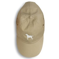 Yellow Labrador Retriever Embroidered Baseball Cap BB3397BU-156