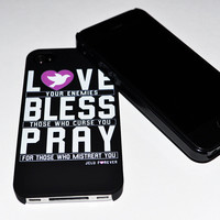 JCLU Forever Christian t-shirts — LOVENEMIES3 iPhone Cover