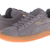 PUMA The Suede Winter Gum Steel Gray/Team Gold - Zappos.com Free Shipping BOTH Ways