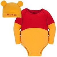 Winnie the Pooh Disney Cuddly Bodysuit Set for Baby - Personalizable | Disney Store