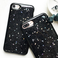 High quality Fashion Glitter Starry Sky Phone Cases For iphone7 Capa Coque For iphone 7 6 6S Plus Luxury Soft Back Cover Fundas
