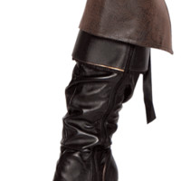 Sexy Brown Pirate Girl Boot Cuffs Halloween Accessory