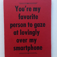 Quirky Letterpress Valentine's Day Card