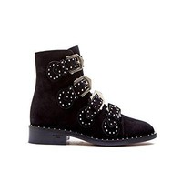 Givenchy Women's BE08143124001 Black Suede Ankle Boots