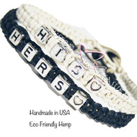 Personalized Couples Bracelets, His Hers Bracelets, Anniversary Gift, Gift Idea, Valentines Gift