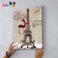 diy picture oil painting on canvas wall decor Frameless painting by numbers for home decor  40x50cm Paris Christmas