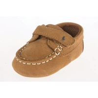 Ralph Lauren Layette Captain Boat Shoe in Tan