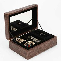 Embossed Metal Jewelry Box- Copper One