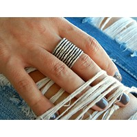 Adjustable Sterling Silver 'Stacking' Ring