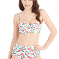 Betsey Johnson Vintage Inspired High Waist Betsey Johnson Spring in the Occasion Swimsuit Top