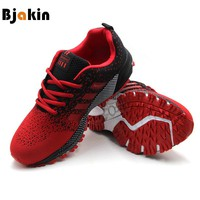 Bjakin Men's Comfortable Running Shoes Outdoor Light Mens Sneakers Air Mesh Cheap Sport Shoes Athletic Footwear Plus 47 Size