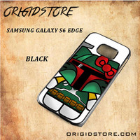 Boba Fett Hello Kitty Star Wars Black White Snap On 3D For Samsung Galaxy S6 Edge Case