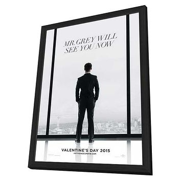 Fifty Shades of Grey 11x17 Framed Movie Poster (2015)