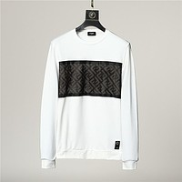 Fendi cotton men's and women's fashion round neck long-sleeved sweater