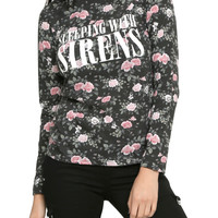 Sleeping With Sirens Floral Girls Long-Sleeved Top
