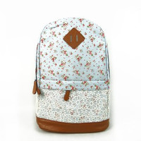 Floral Pattern With Lace Design Backpack School