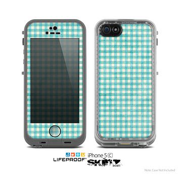 The Vintage Blue Plaid Skin for the Apple iPhone 5c LifeProof Case