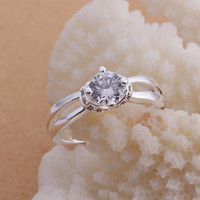 Double Line Silver Ring
