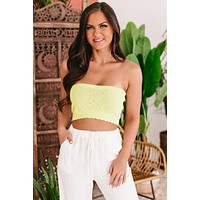 Bold Behavior Knitted Tube Top (Sage Green/Pale Green)