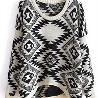 New beige totem sweater from Fanewant