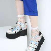 The Whitepepper Triple Strap Chunky Sandals