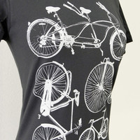 Bike T-Shirt - Bicycle Collection Ladies GREY Shirt - Sizes S, M, L, XL