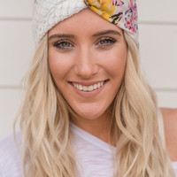 Duo Floral Turband Twist Headband