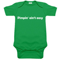 Pimpin' Ain't Easy One Piece (kelly green/white)