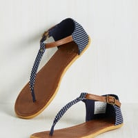 Dots of Promise Sandal in Navy | Mod Retro Vintage Sandals | ModCloth.com