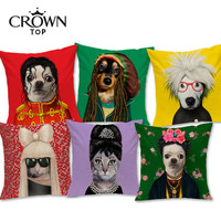 European Style Hipster Dog and Cat Decorative Sofa Throw Pillow Cushion