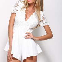 Forever In Love Playsuit White
