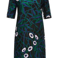 Jacquard and Bonded Jersey Dress