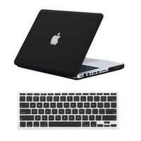 Case for Macbook Pro 13 BLACK Tough Rubberized Skin Fit Matte Frosted Laptops Case + Keyboard Guard Cover For Pro 13 Inch A1278