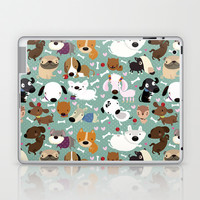 Dog pattern Laptop & iPad Skin by Maria Jose Da Luz