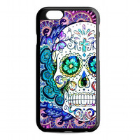 Colourful Mandala Sugar Skull Flowers For iphone 6s case