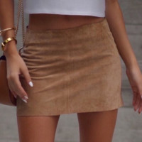 Brown package hip skirt skirts