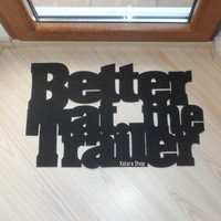 Better at the Trailer floor mat. Decor your caravan home