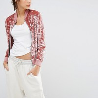 Missguided Exclusive Velvet Bomber Jacket at asos.com