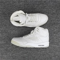 "Air Jordan 5 Premium ""Pure Platinum"" 881432-003  Size US 8-13"