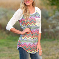 Above And Beyond Crochet Pocket Top