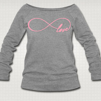 Infinite Love Sweatshirt  Free Shipping by PeaceLoveMeow on Etsy