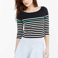 BDG Cropped Boat-Neck Tee-