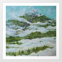 Castle in the Clouds Art Print by RokinRonda