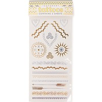 With Love From CA Festival Flash Tattoo Set - Womens Scarves - Gold And Silver - NOSZ