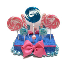 Rectangle Lollipop Centerpiece (Pink/Blue)