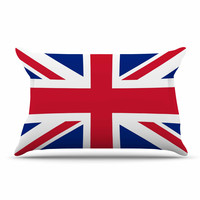 "Bruce Stanfield ""Classic Union Jack"" Blue Red Pillow Sham"