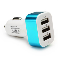 Triple USB Universal Car Charger 3 Port Car-charger Adapter USB Socket 2A 2.1A 1A For Cell Phone HA10659